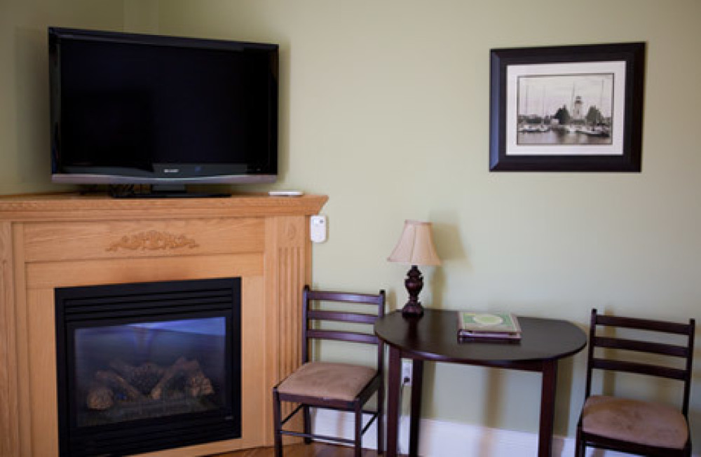 Sitting Area with Flatscreen TV and Fireplace