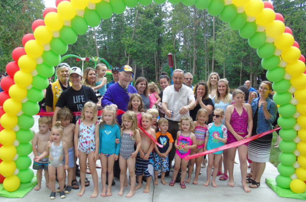 Splash Pad Grand Opening Ceremony (photo courtesy of Shoreline Beacon)