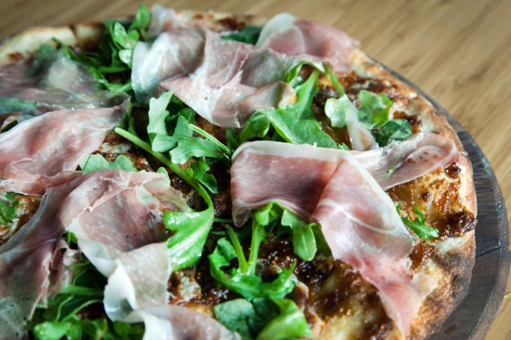 Prosciutto, Pear and Onion Flat Bread