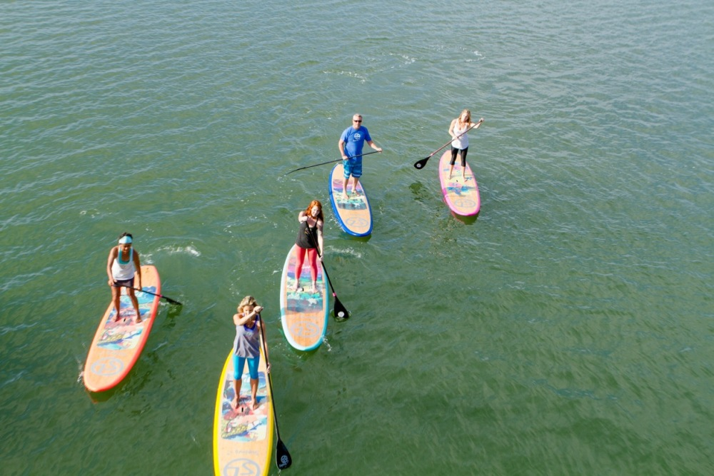 Riding our Sup Love boards!