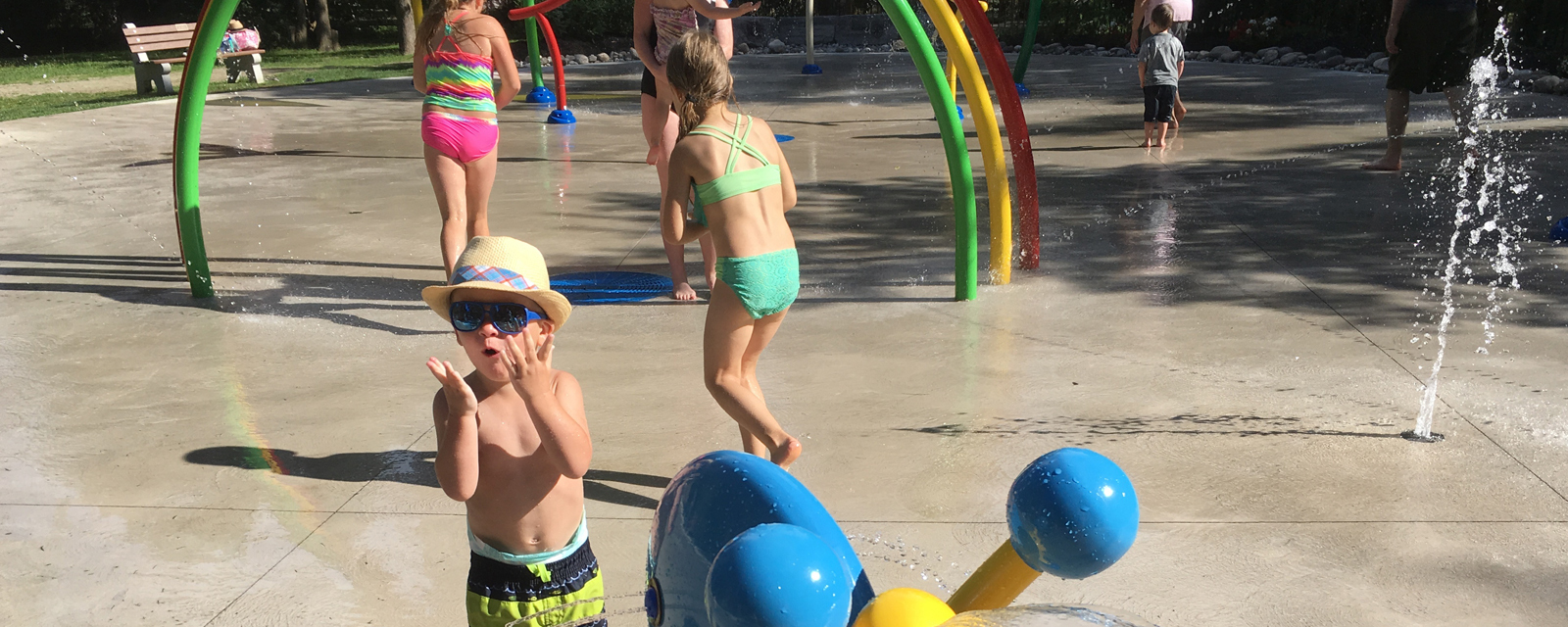 Splash pad in Port Elgin, Ontario
