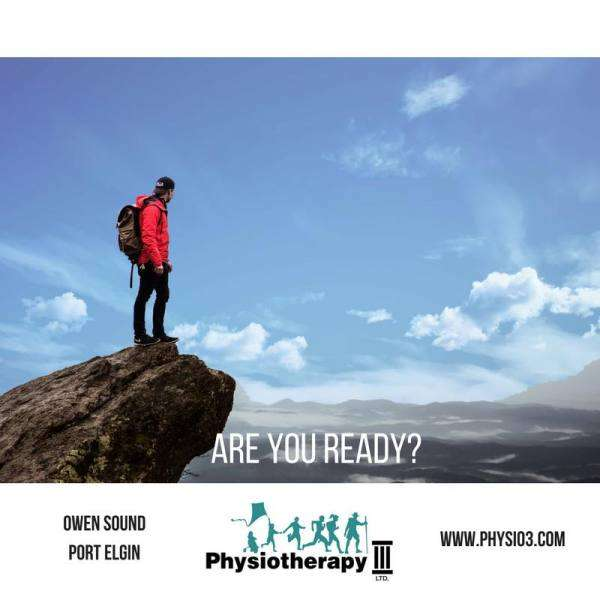 Are you ready? Hiking, walking- we can help get your stride back
