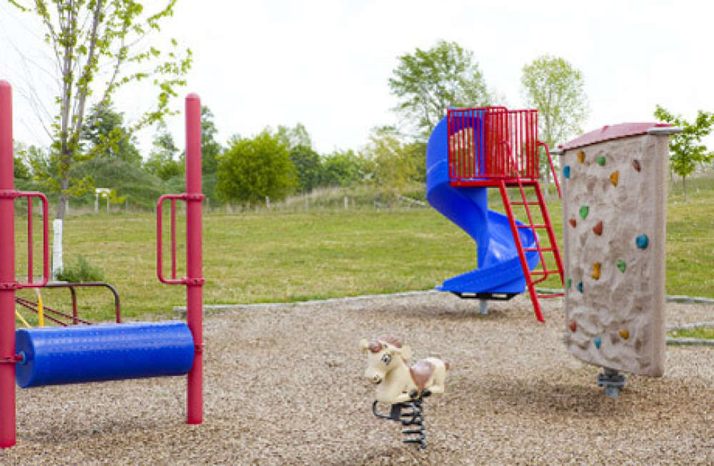 Variety of playground equipment