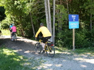 Biking at Beiner's Bush Trail