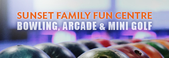 Sunset family fun banner