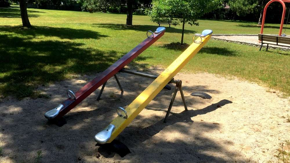 Old fashioned teeter totter
